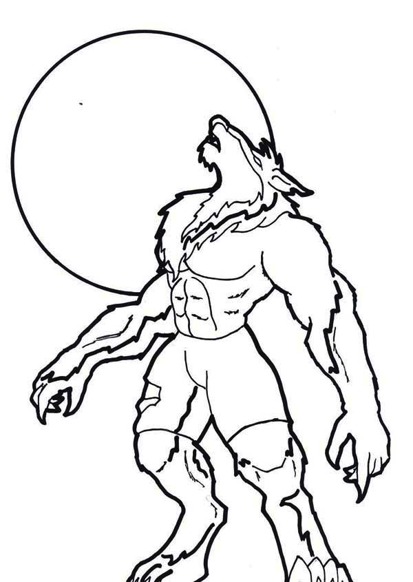 werewolf coloring pages - photo#2