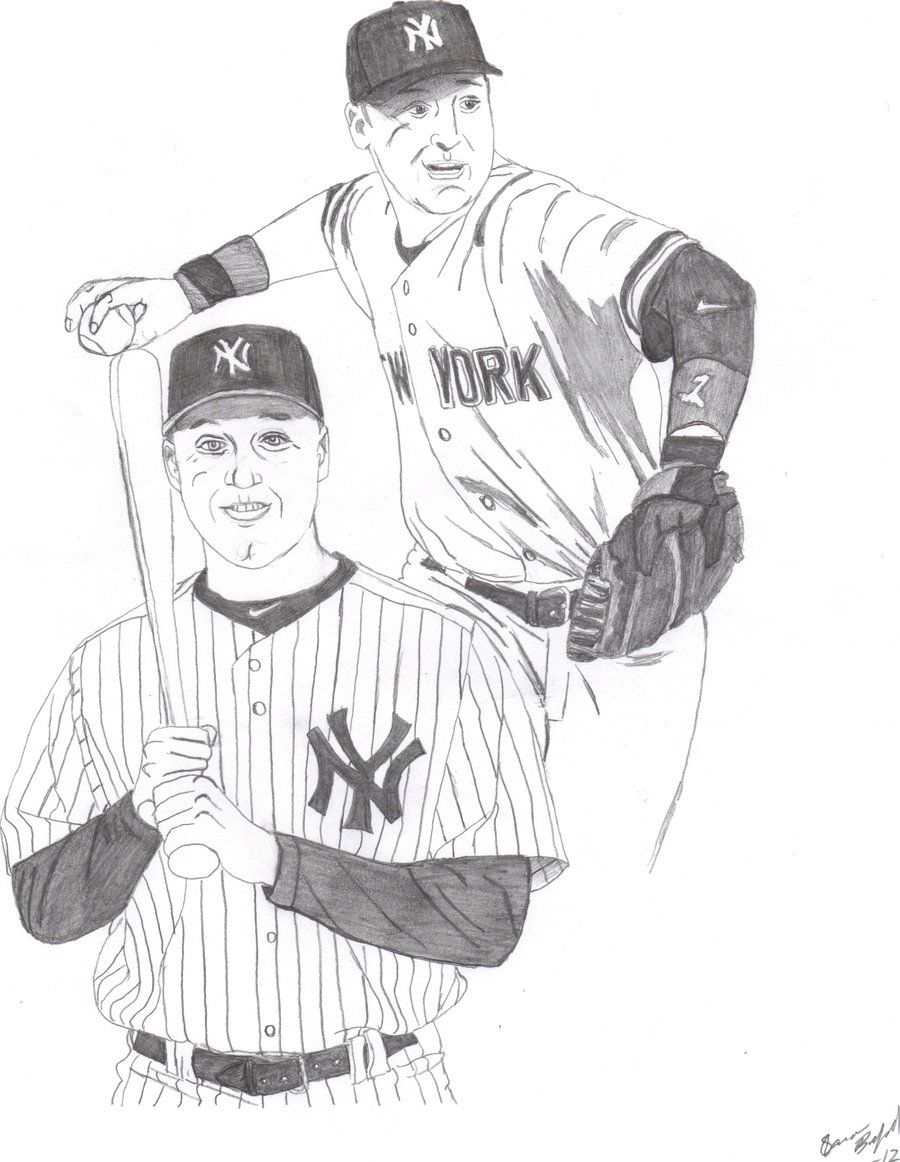 derek jeter coloring pages - High Quality Coloring Pages
