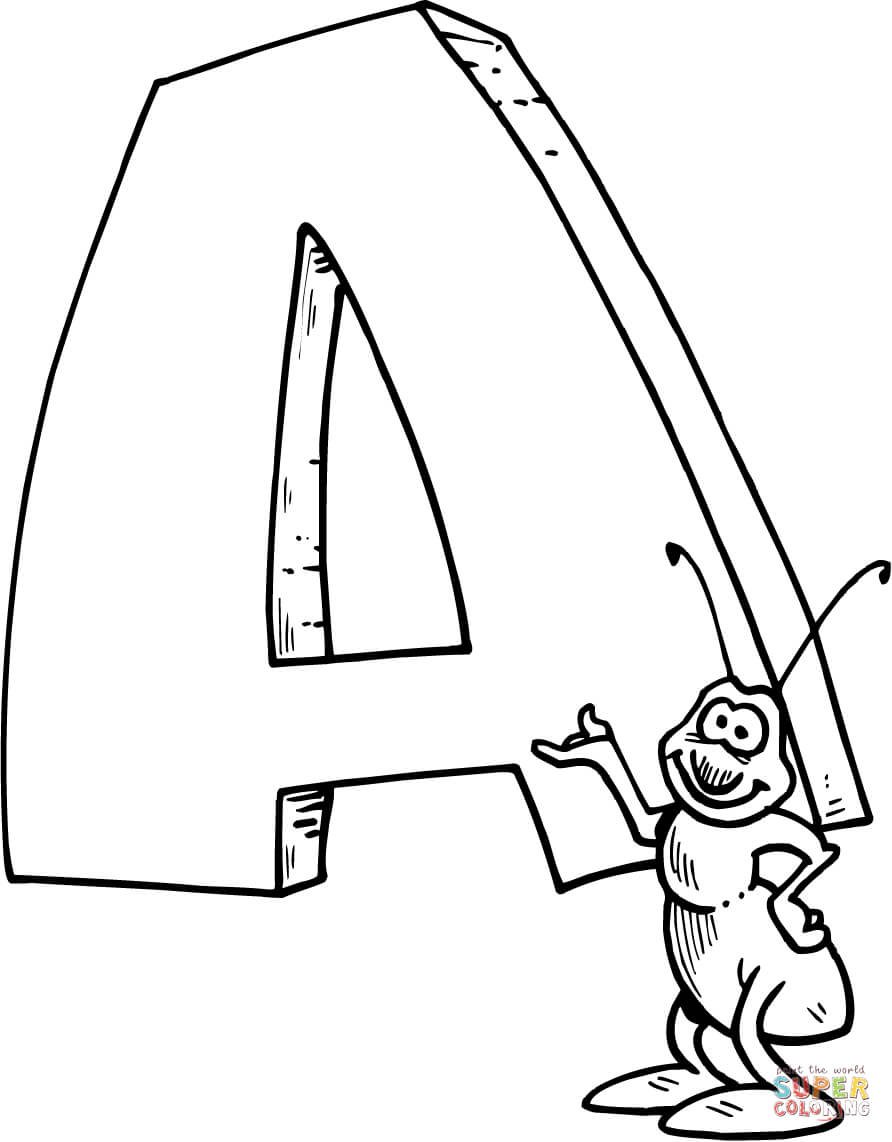 letter a coloring pages coloring home