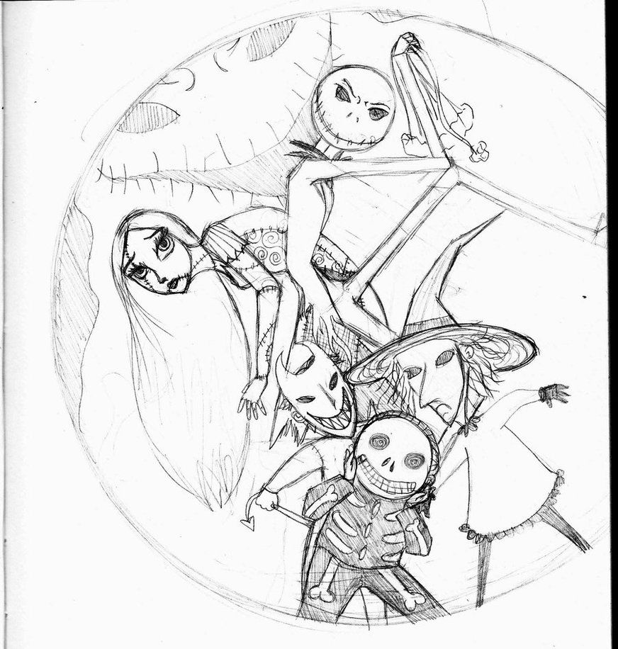 nightmare before christmas characters coloring pages az