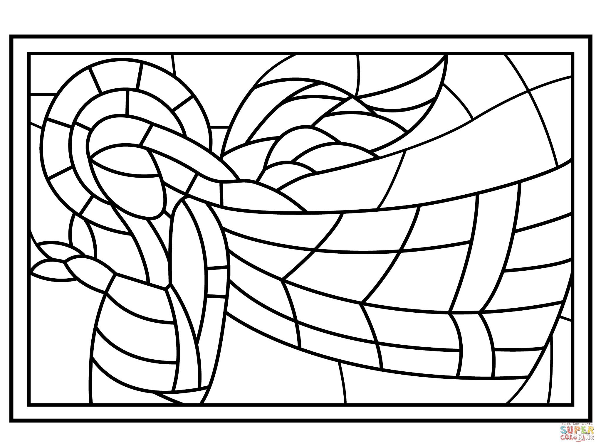 Printable stained glass coloring pages az coloring pages for Pages for windows