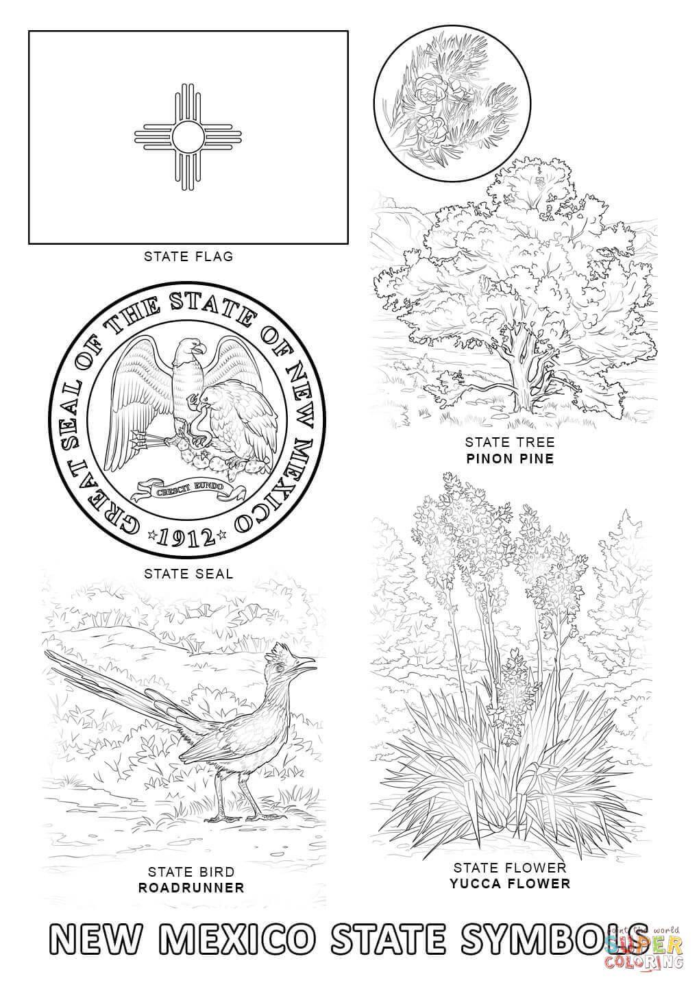 free new mexico coloring pages - photo#10