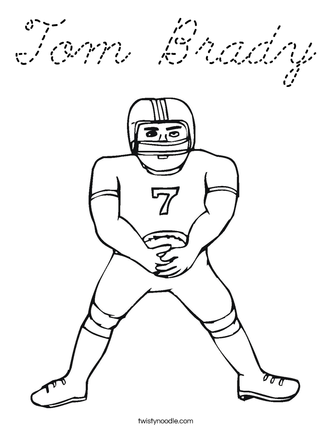 Tom brady coloring pages kids