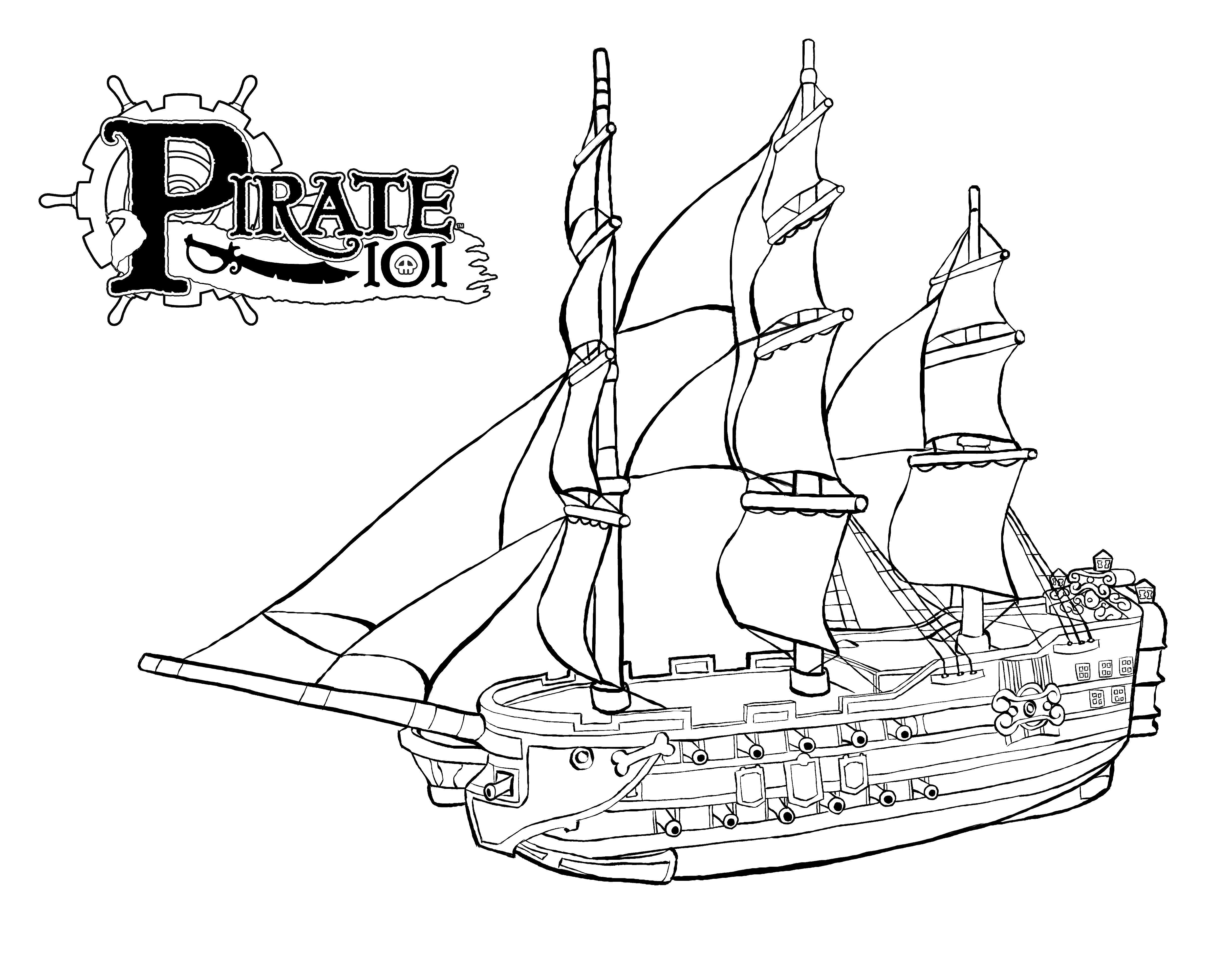 Coloring pages of a sunken ship coloring home for Ships coloring pages