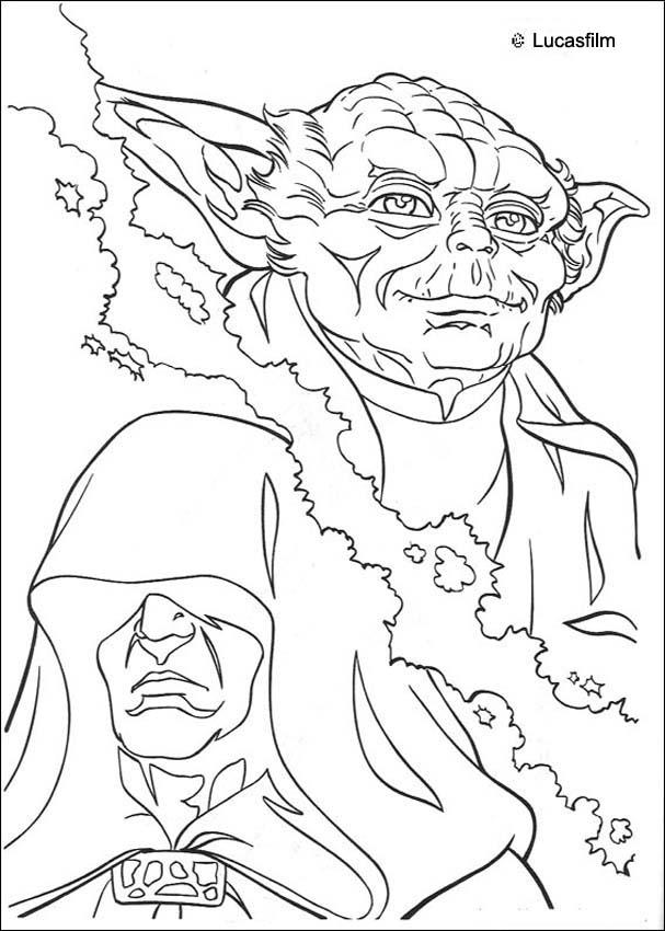 Star Wars Coloring Pages Jedi Knights And Yoda Coloring Home