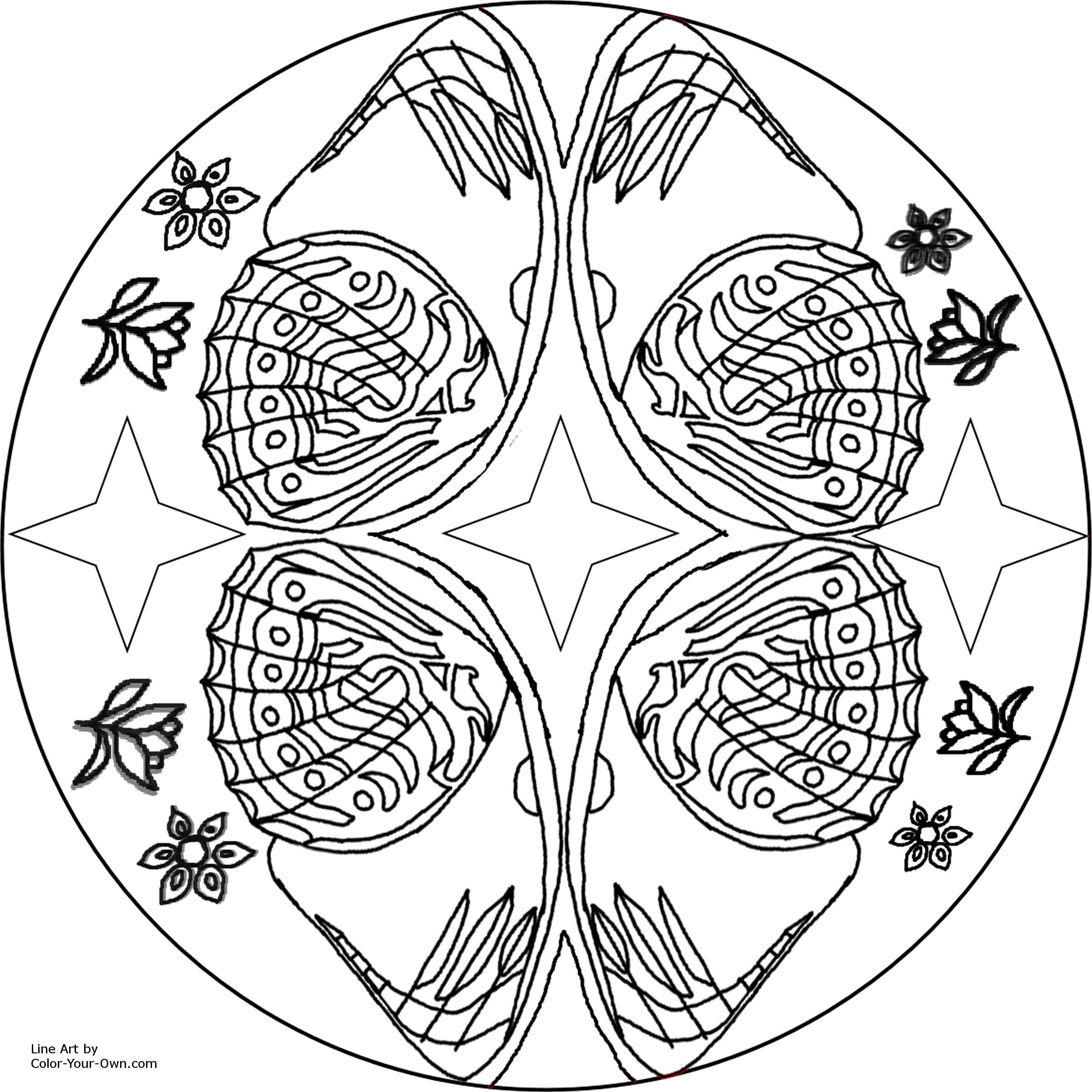 11 pics of free printable butterfly mandala coloring pages
