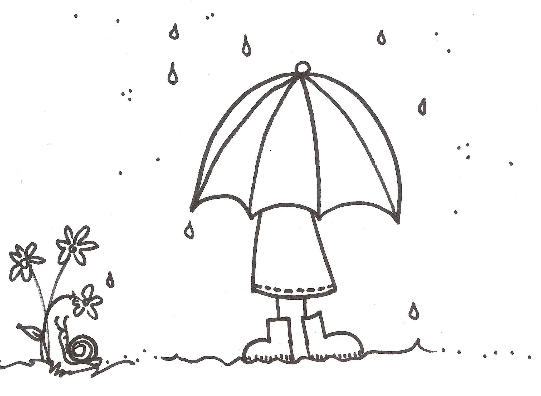 Spring rain coloring pages coloring home for Rain boots coloring page