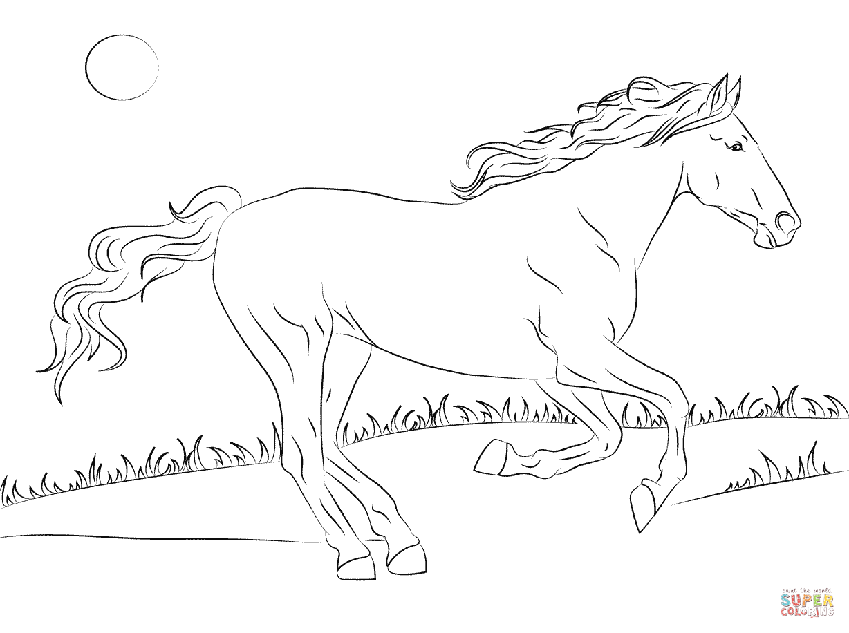 Coloring Pages Free Horse Coloring Home