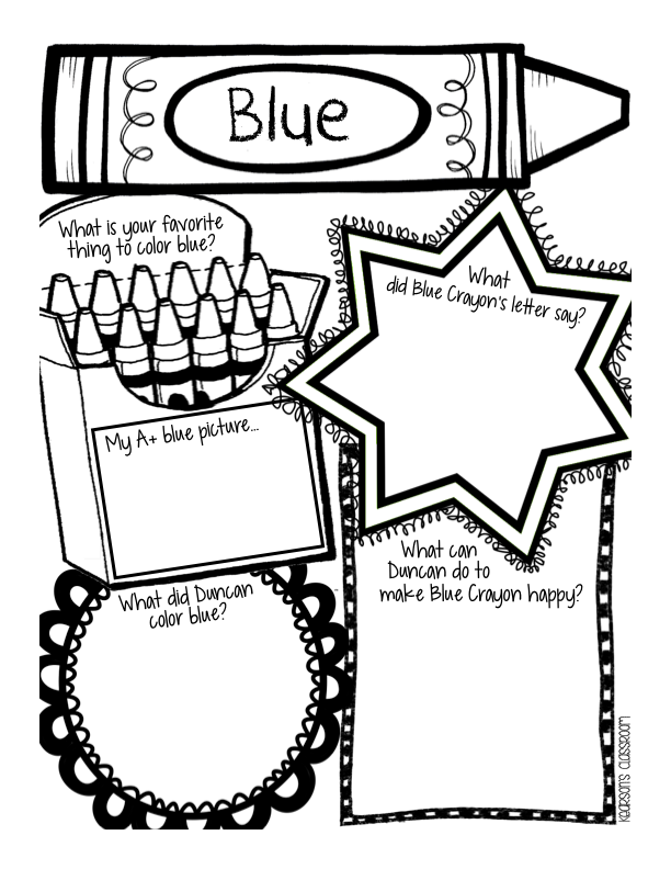 The Day The Crayons Quit Coloring Page Coloring Home