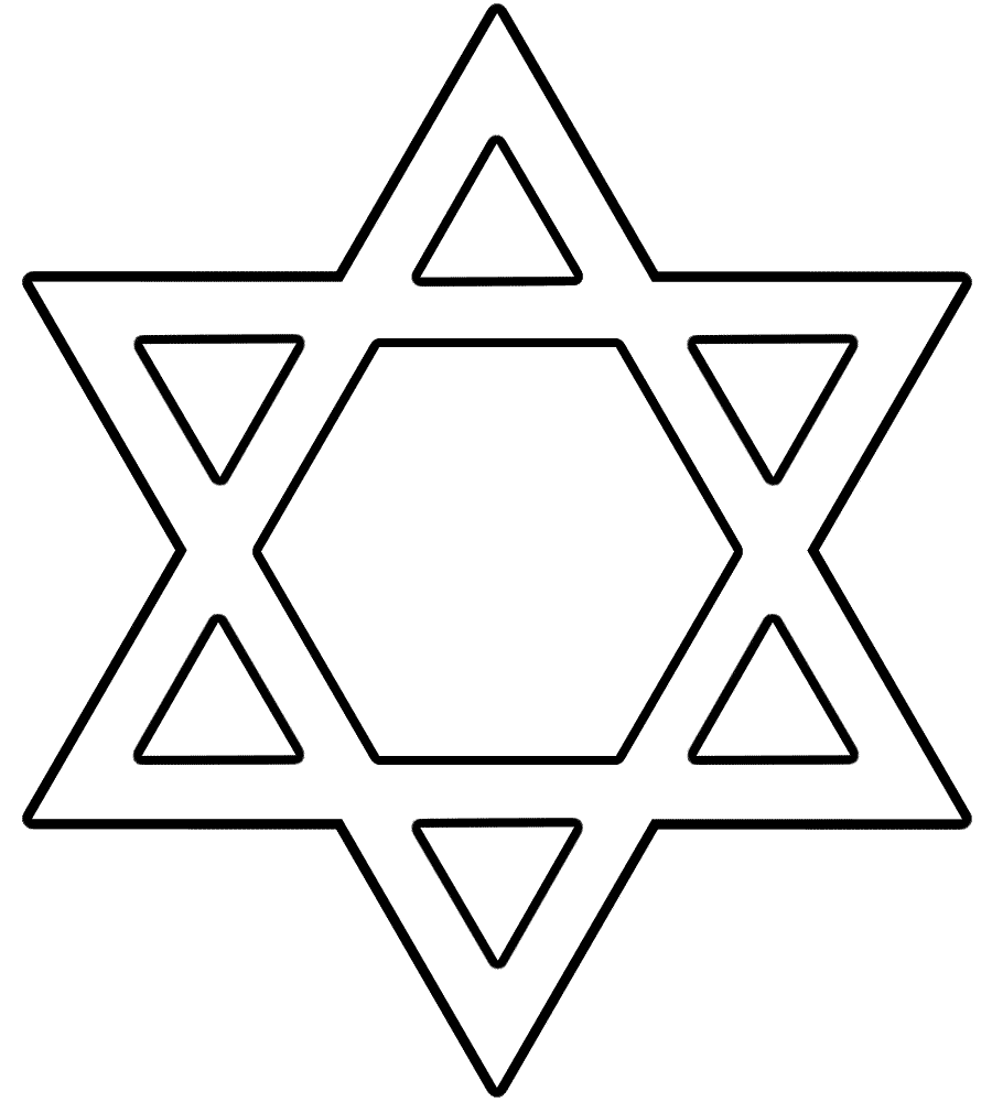Star Of David Coloring Page Hanukkah Coloring Home