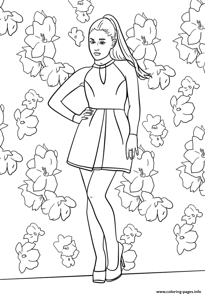 Ariana Grande Celebrity Coloring Pages Printable Coloring Home