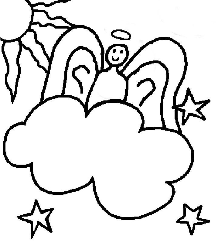 Cloud Coloring Pages For Kids - ClipArt Best