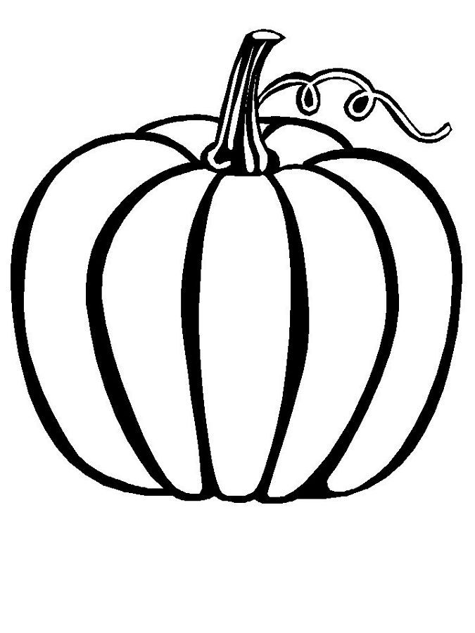 printable blank pumpkin coloring pages - photo#33