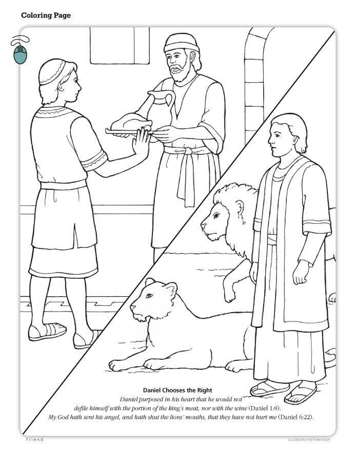 daniel the lions den coloring page - coloring home - Bible Story Coloring Pages Daniel