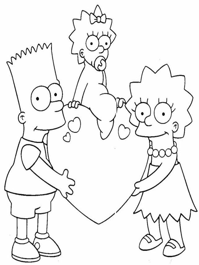 the simpsons coloring book pages - photo#15