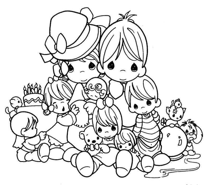 Precious Moments Nativity Coloring Pages - Coloring Home