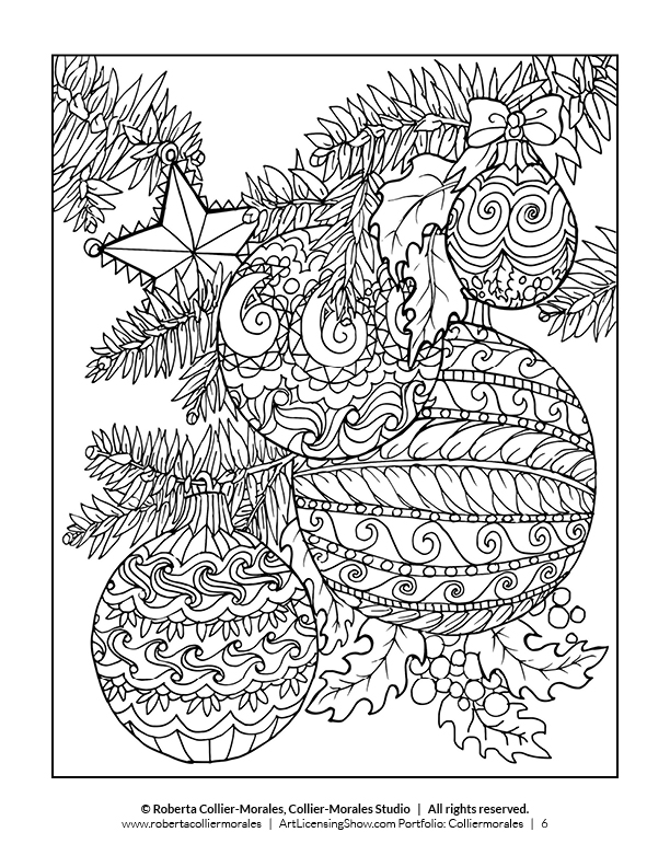 adult coloring pages printable christmas - photo#2