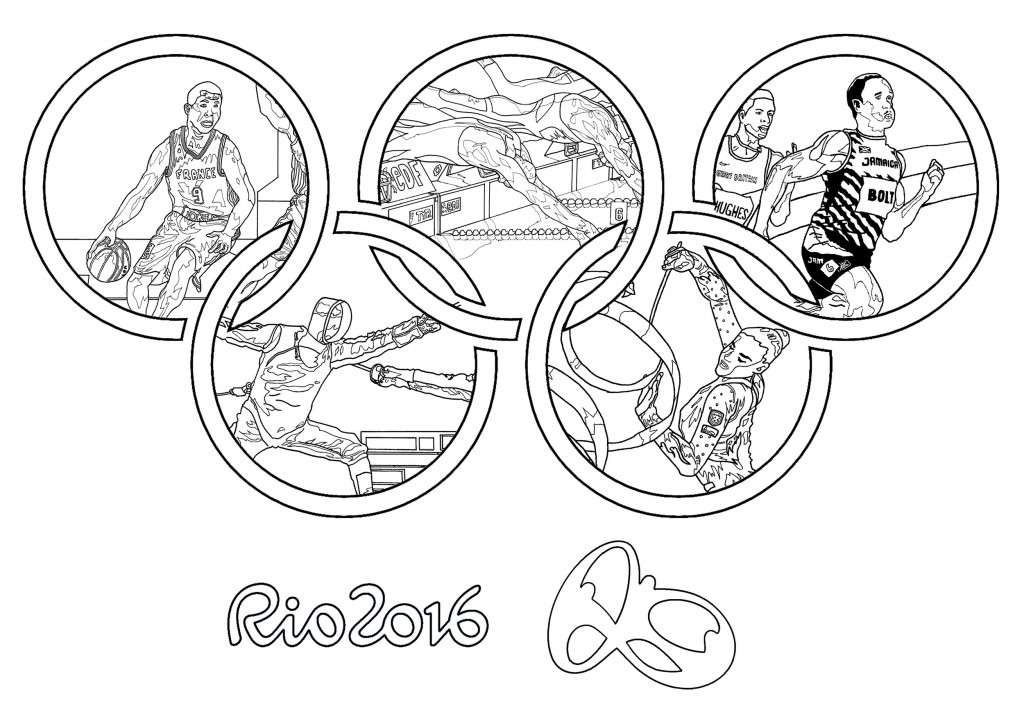 Rio 2016 Olympic Rings Coloring Page Coloring Home Olympic Rings Coloring Page