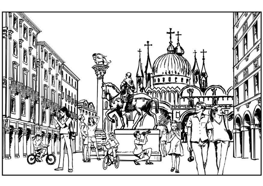 Italy Coloring Page