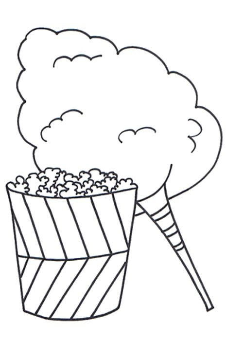 Cotton Candy Coloring Page  Coloring Home