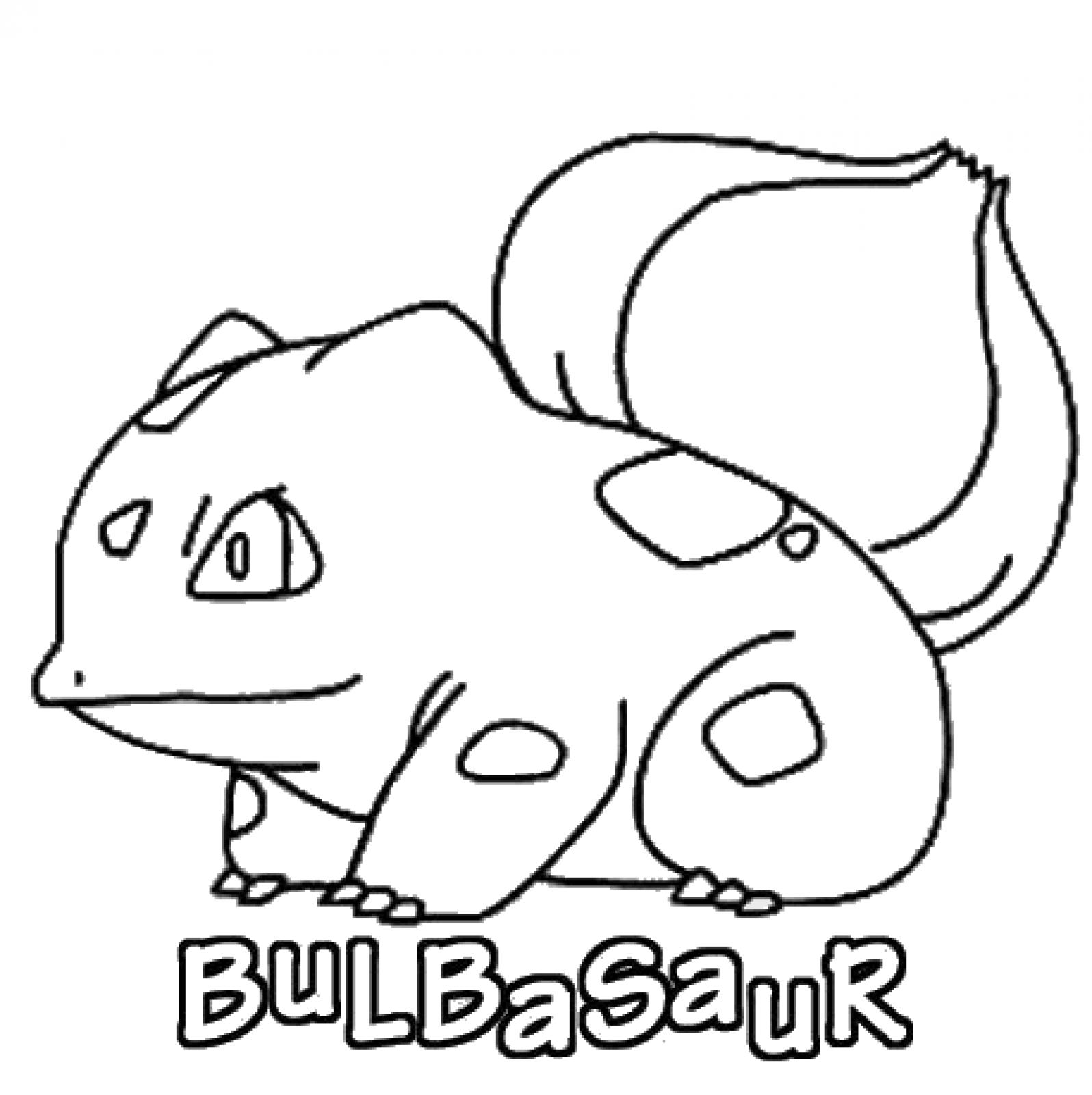 Bulbasaur Coloring Pages - Coloring Home