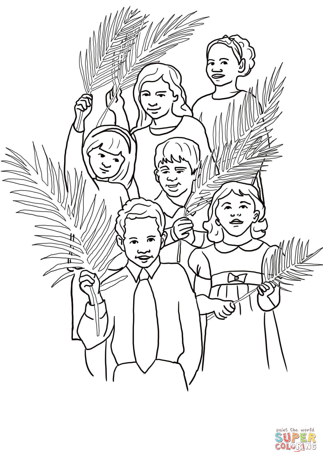 coloring pages triumphal entry - photo#8