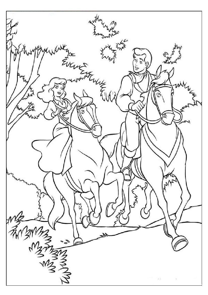 Barbie Coloring Pages With Horses : Barbie horse coloring page home