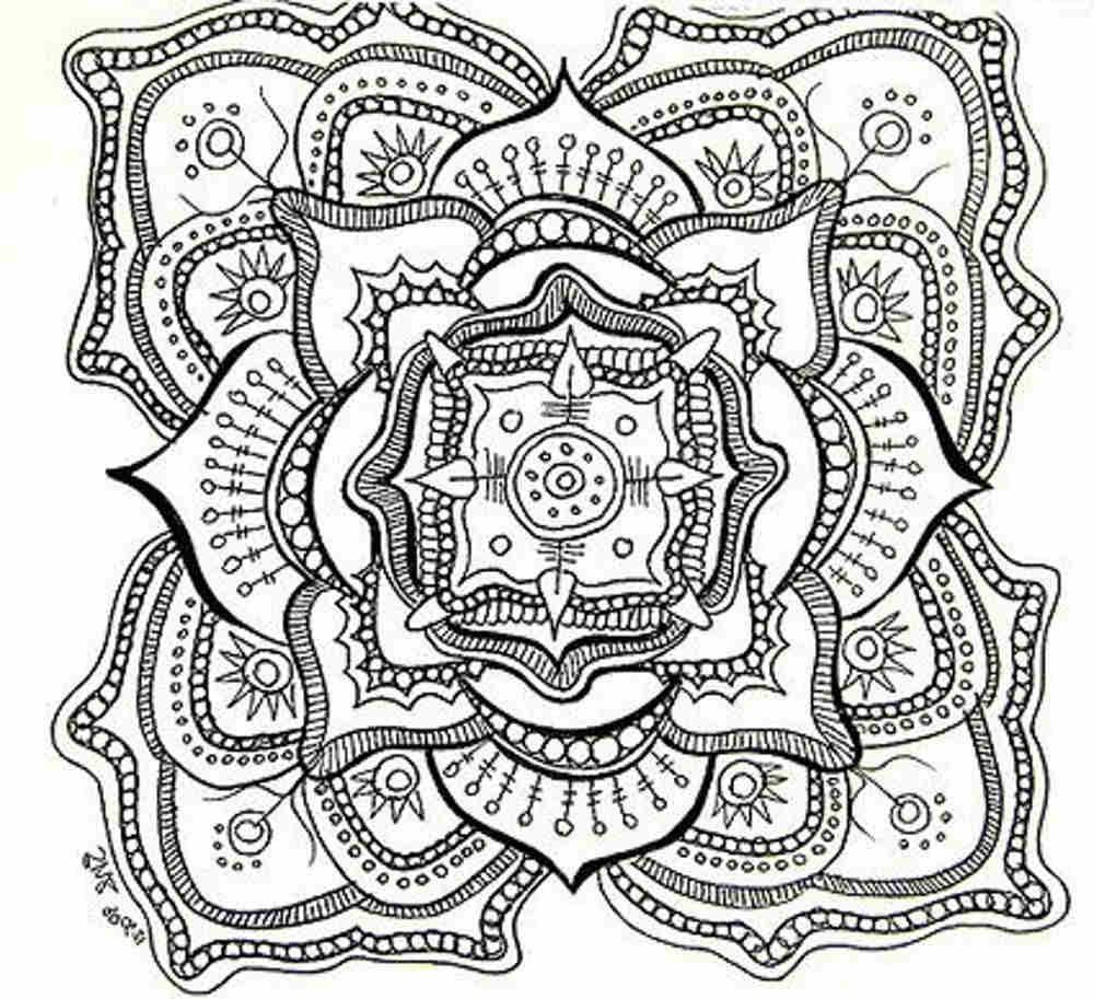 Free mandala coloring pages for adults coloring home for Adult coloring pages mandala