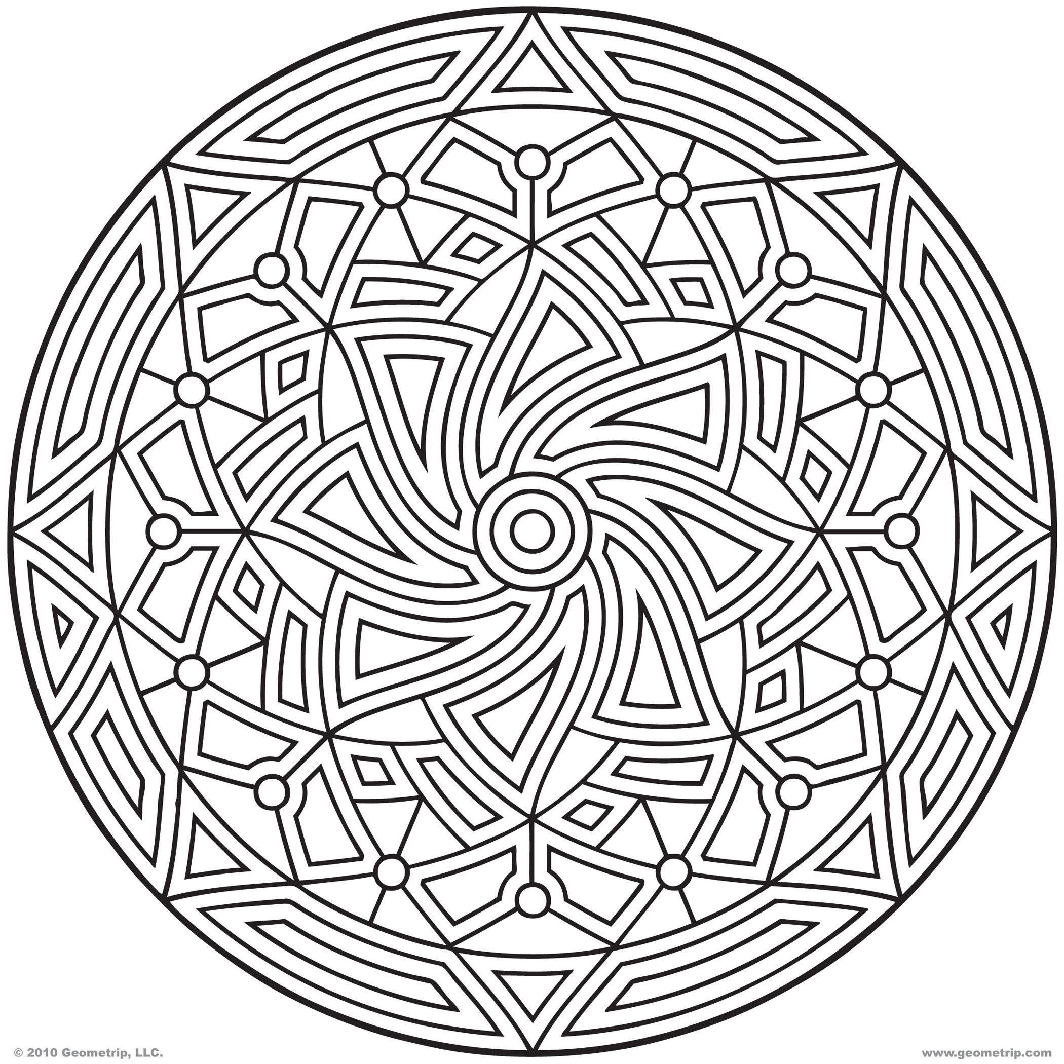 Clip Art Circles Coloring Pages circles coloring page az pages 3d circle printable for all ages