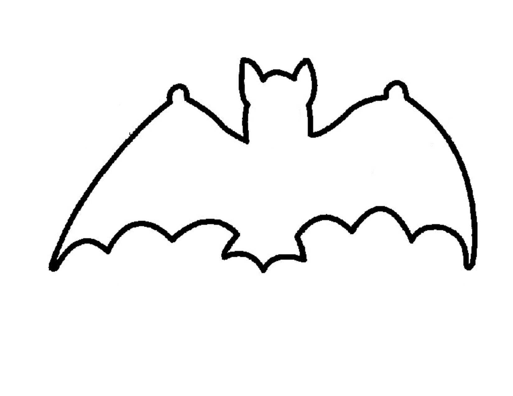Bat outline template coloring home - Murcielago para imprimir ...