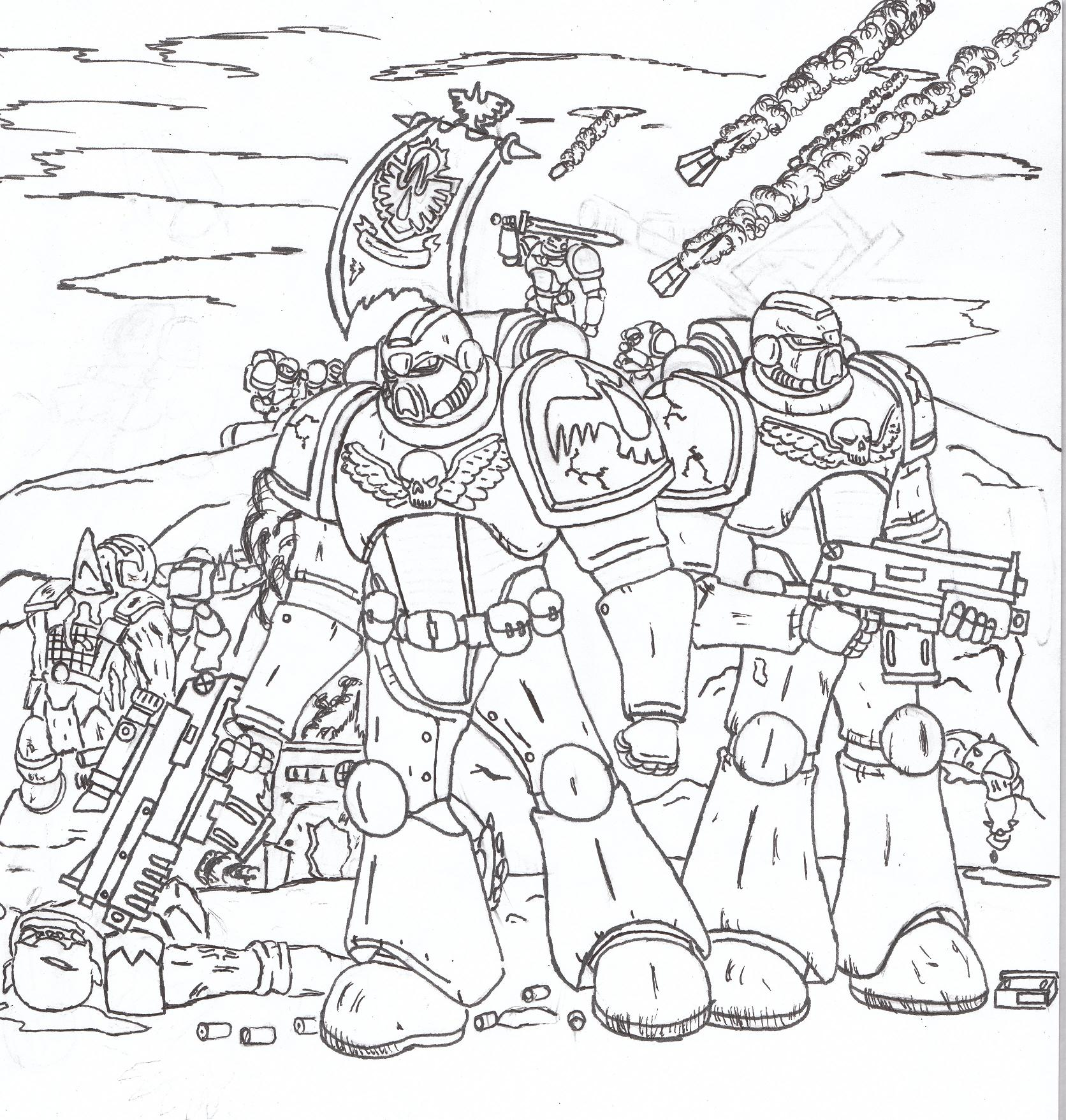 Marine Coloring Page Coloring