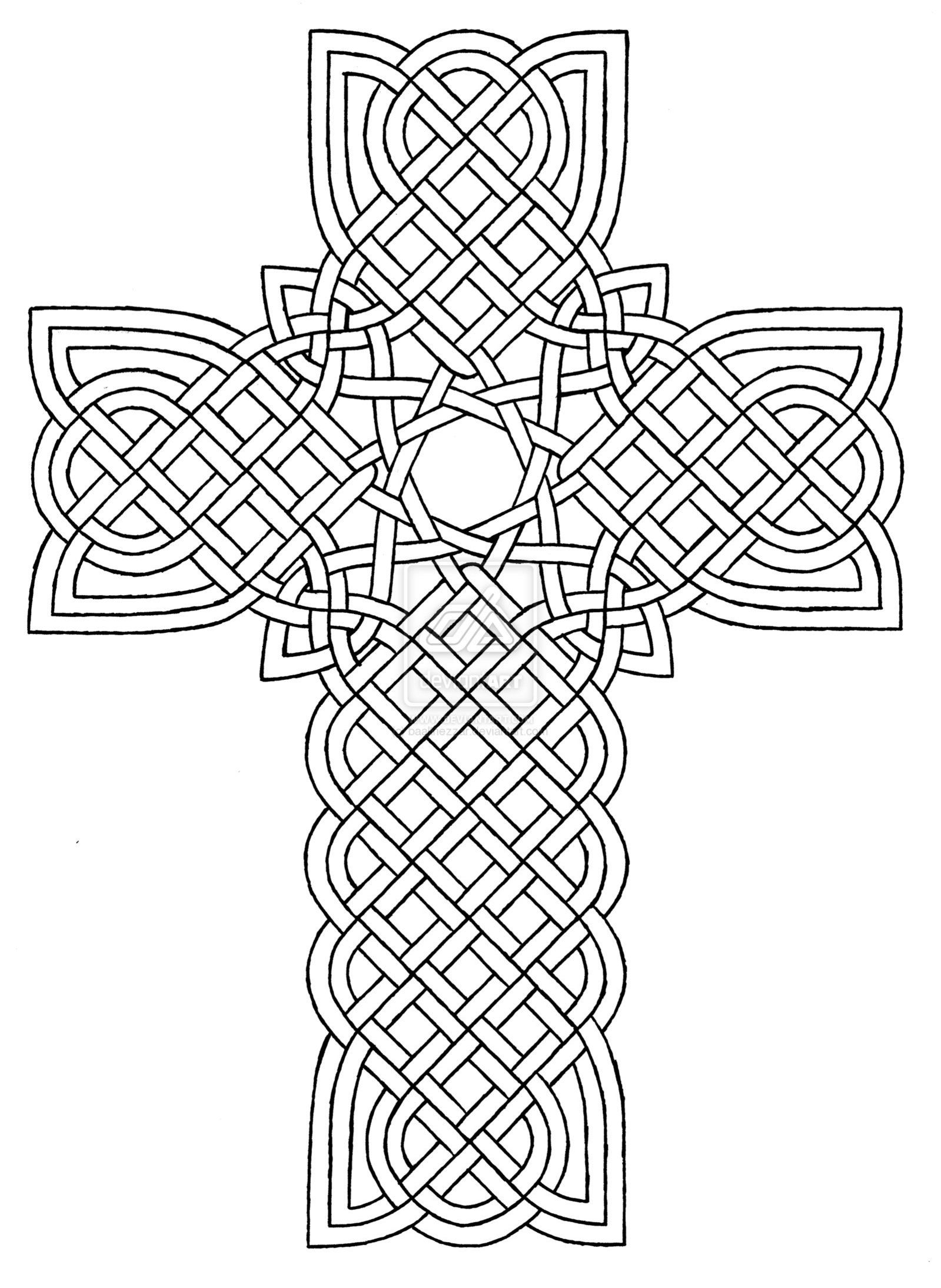 Detailed Coloring Pages Pdf : Pics of detailed cross coloring pages easter