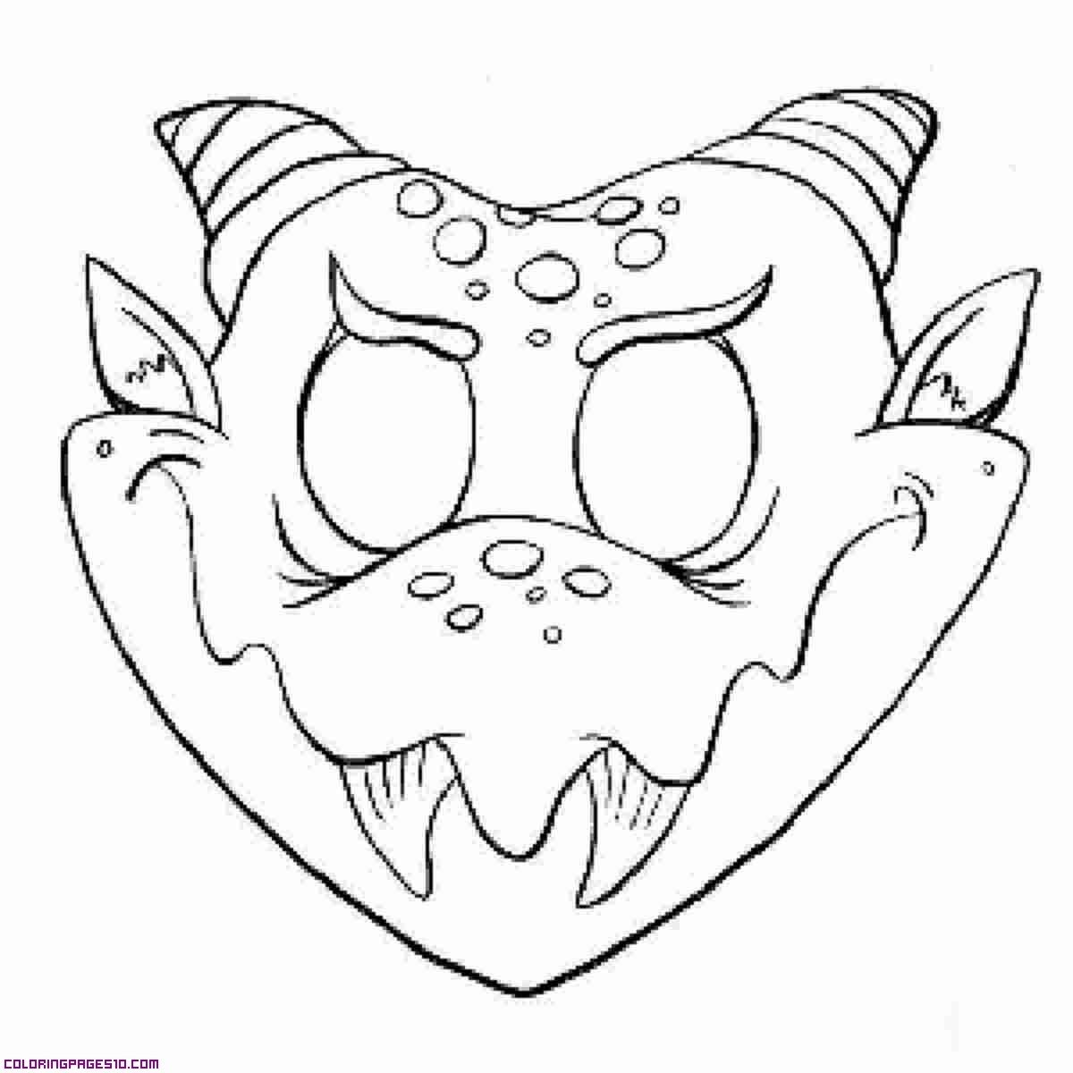 Halloween mask coloring pages ~ Halloween Scary Masks Coloring Pages - Coloring Home
