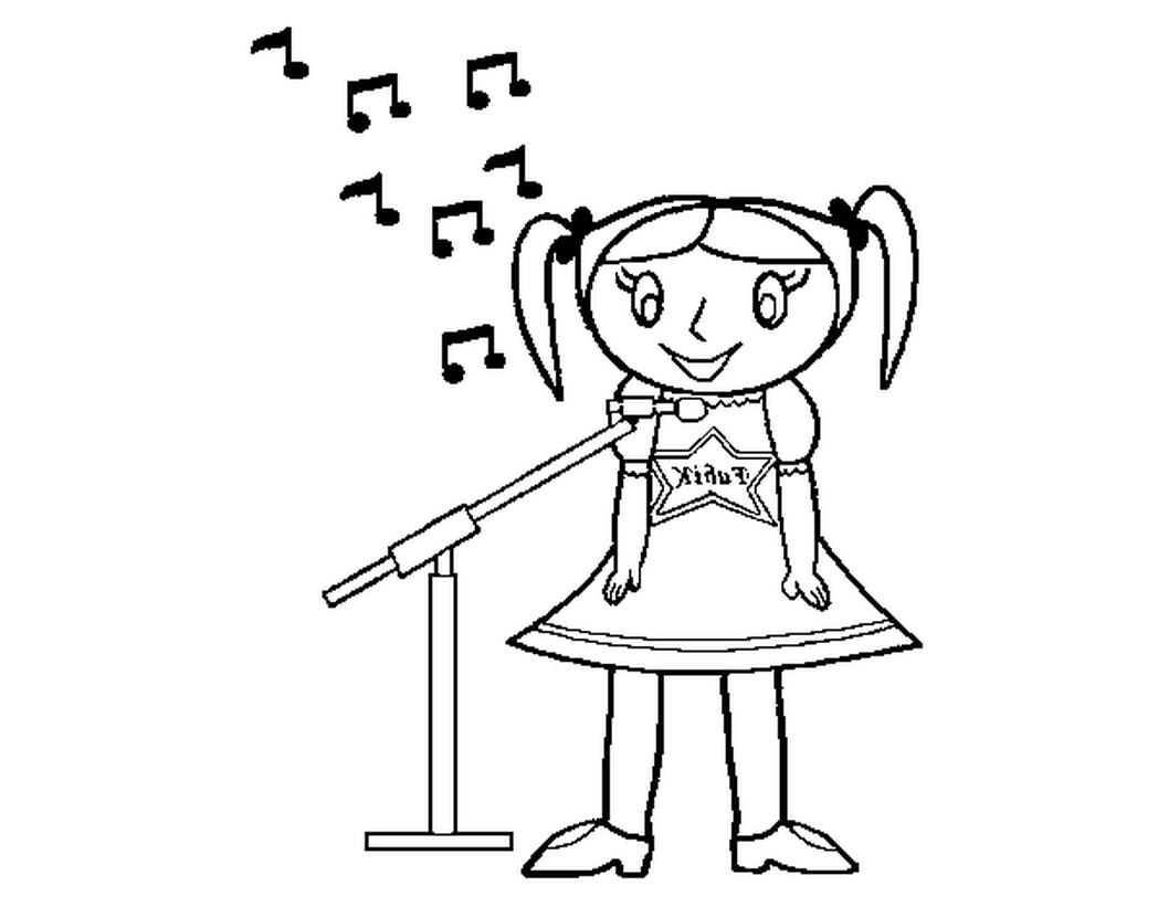 child singing coloring pages - photo#18