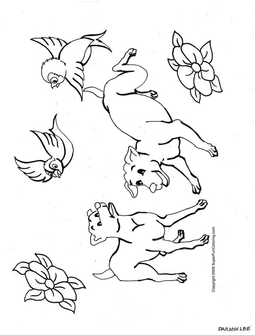 puppy dog coloring pages free coloring home