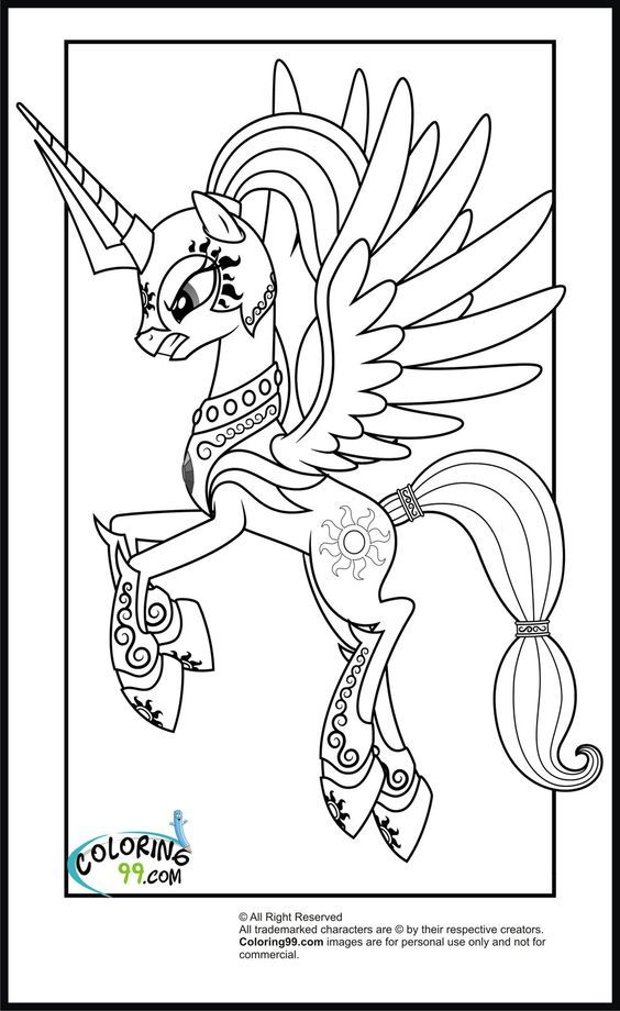 My Little Pony Shining Armour Coloring Pages : My little pony shining armor coloring pages home