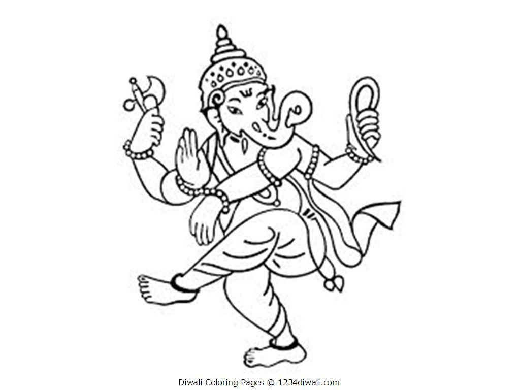 Diwali Coloring Pages Coloring Home Diwali Coloring Pages For