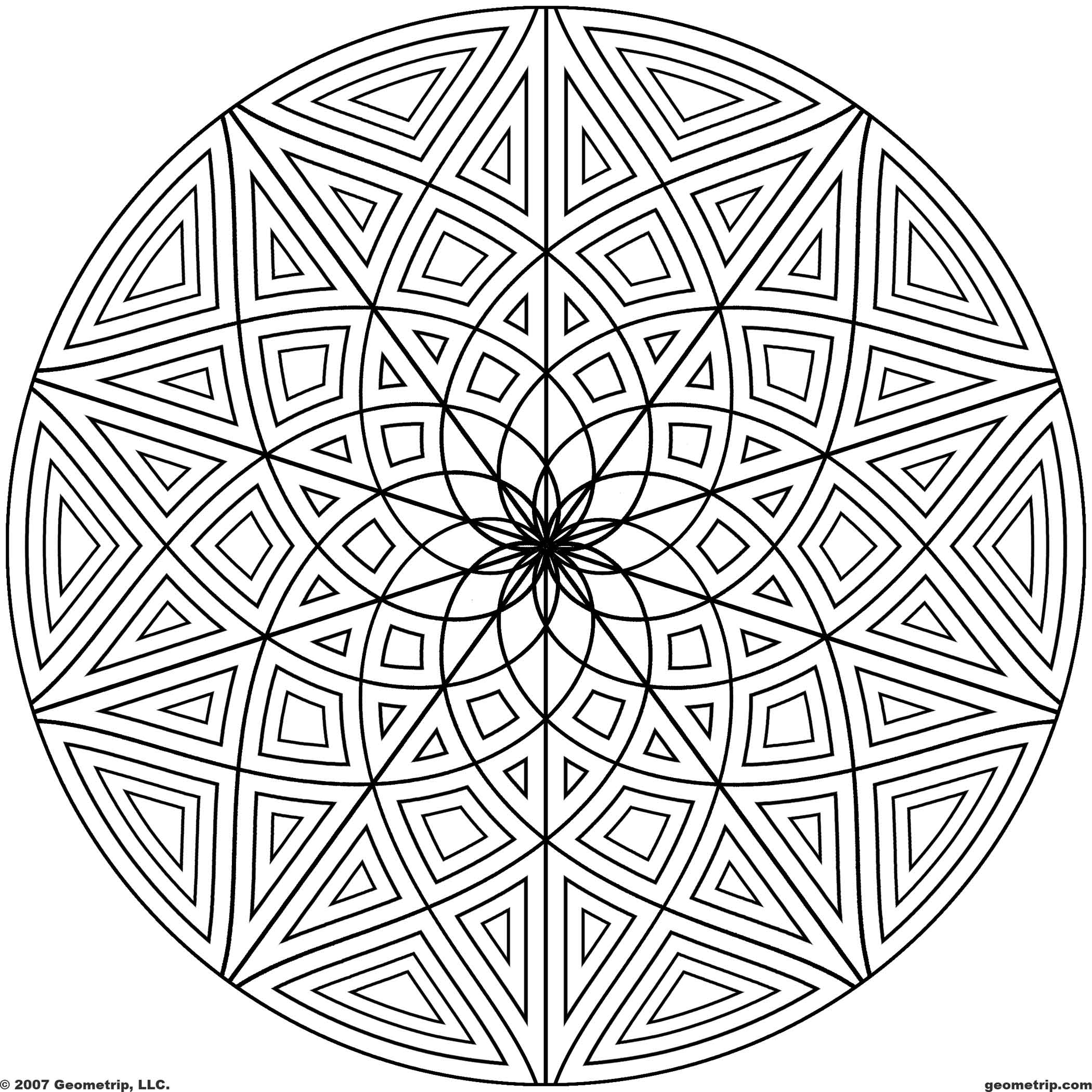 geometric coloring pages advanced nature - photo#8