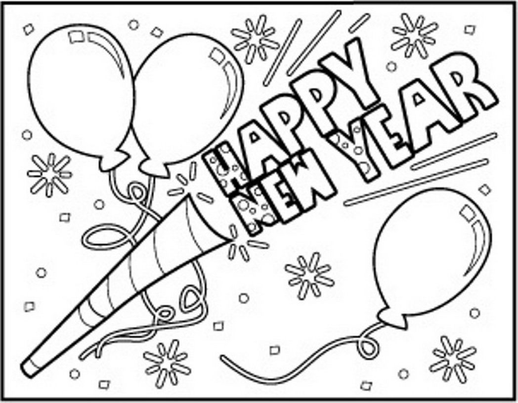 Coloring Pages Free Printable New Years Coloring Pages happy new year coloring pages az to download and print for free
