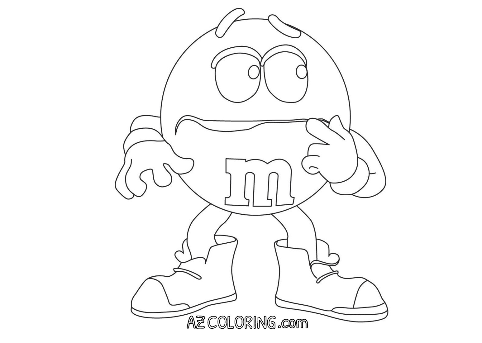 m ms coloring pages - photo#13