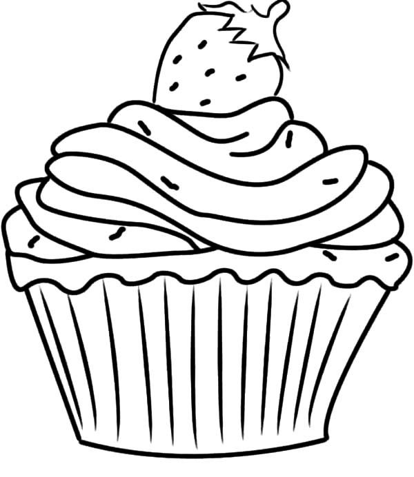 Cup Cake Coloring Pages For Preschoolers : Free Cupcake Coloring Pages - AZ Coloring Pages