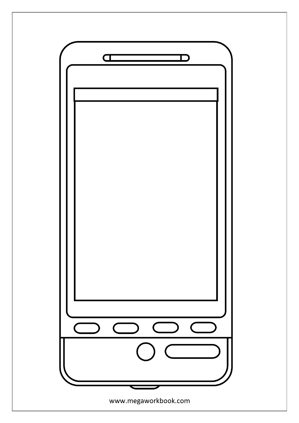 free telephone coloring pages - photo#2