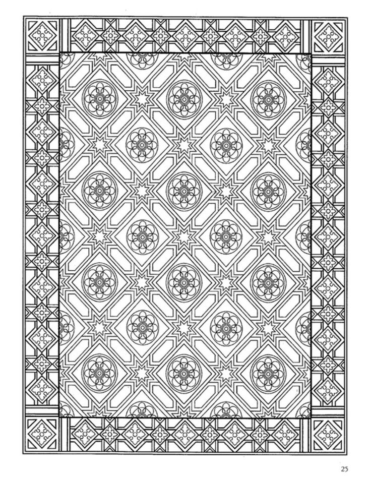 Tiles coloring pages coloring home for Zentangle tile template