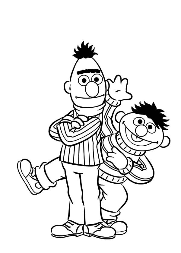 Bert And Ernie | Free Coloring Pages on Masivy World