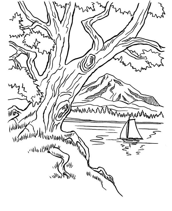 Mountains coloring page coloring home for Mountain coloring page