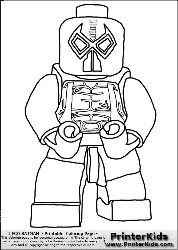 Lego Batman Coloring Page