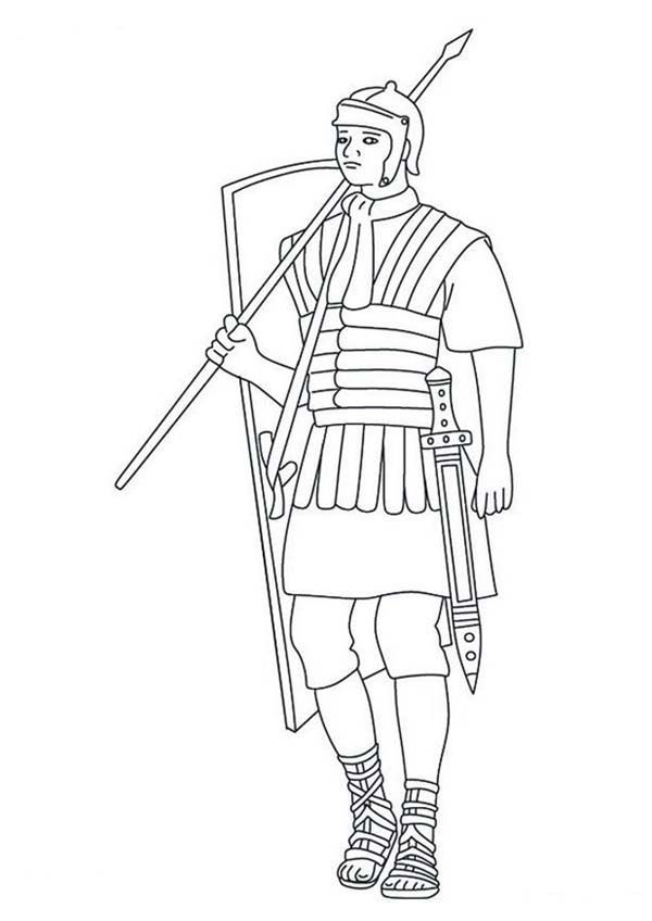 roman coloring pages free - photo#24