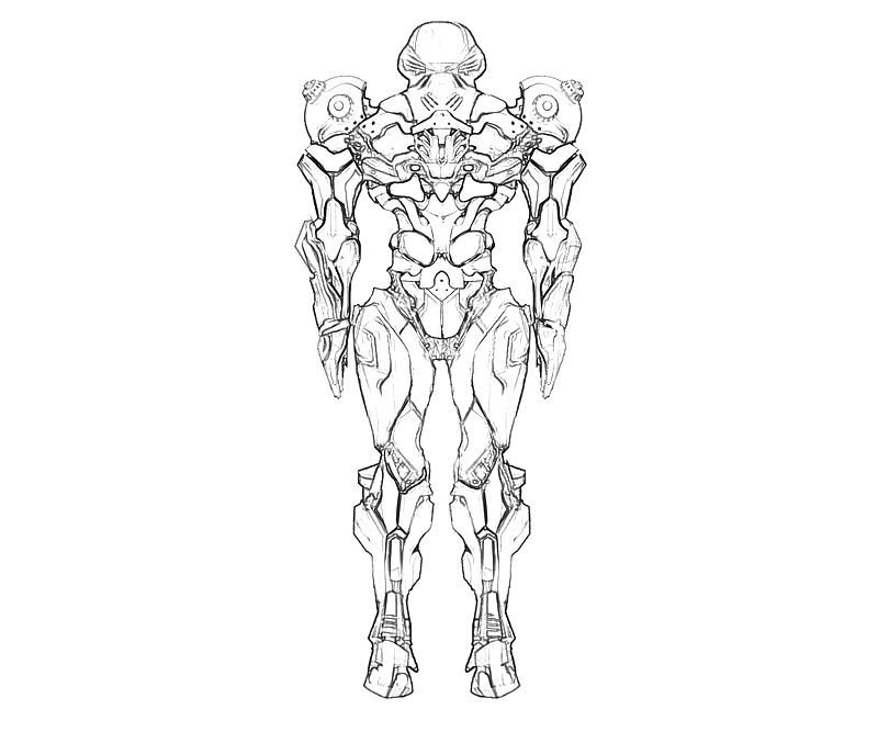Samus Coloring Page Coloring Home