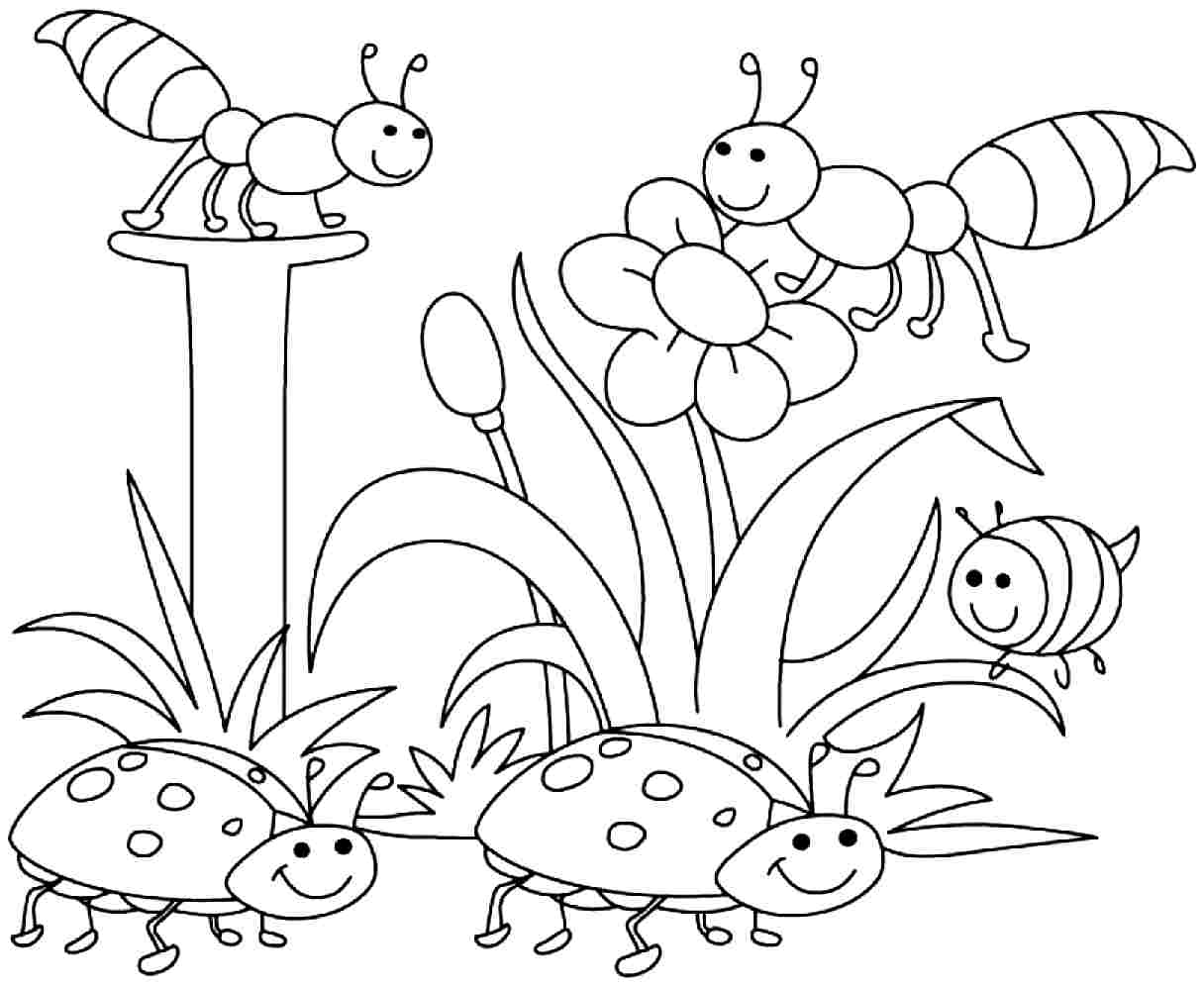 Springtime Coloring Pages (20 Pictures) - Colorine.net | 9433