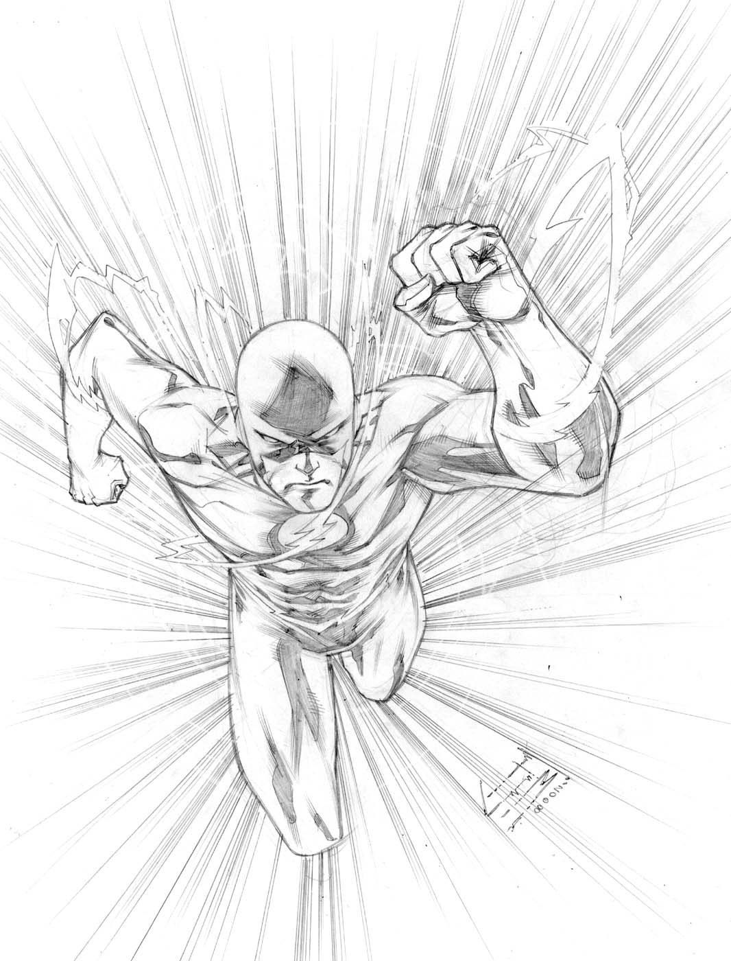- 10 Pics Of DC Comics Flash Coloring Pages - Flash Superhero DC